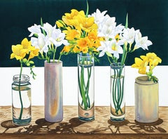Christopher Ryland, Contemporary Still life of Freesias