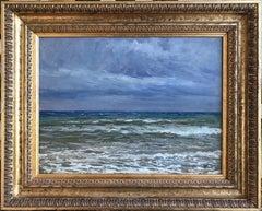 Giorgio Belloni, Italian Impressionist, plein air seascape, Ligurian coast