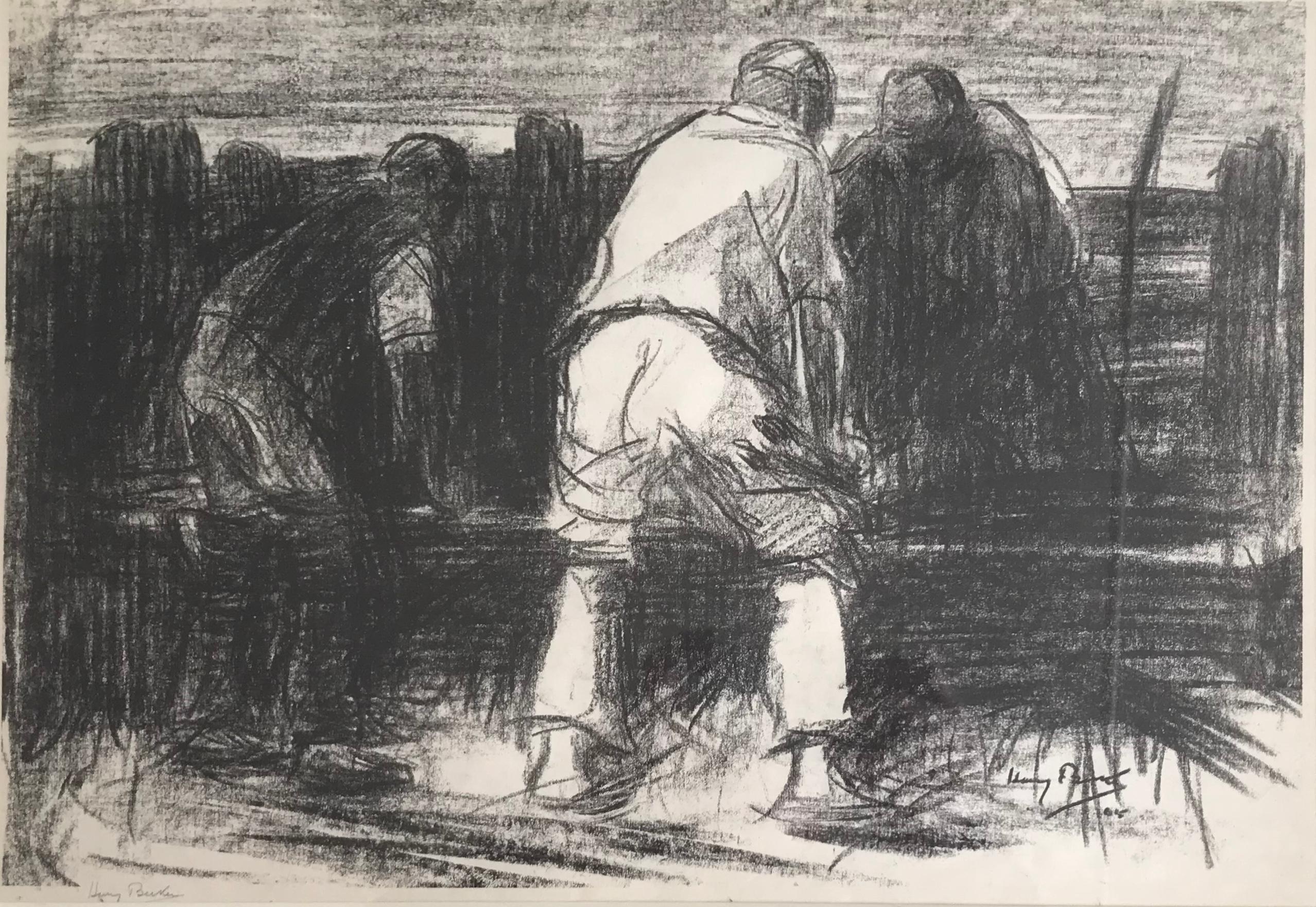 Harry Becker, Sheep dipping, English rural scene