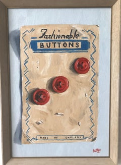 Alan Latter, Fashionable Buttons, Trompe l'ceil still life