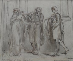 Follower of Thomas Rowlandson, Troilus and Cressida, early 19th century drawing