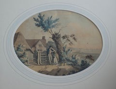 English School, circa 1800 Georgian watercolor, The Sailor's return