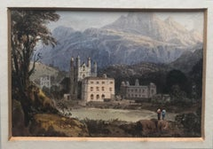 William Crouch, view of a country estate in the mountains