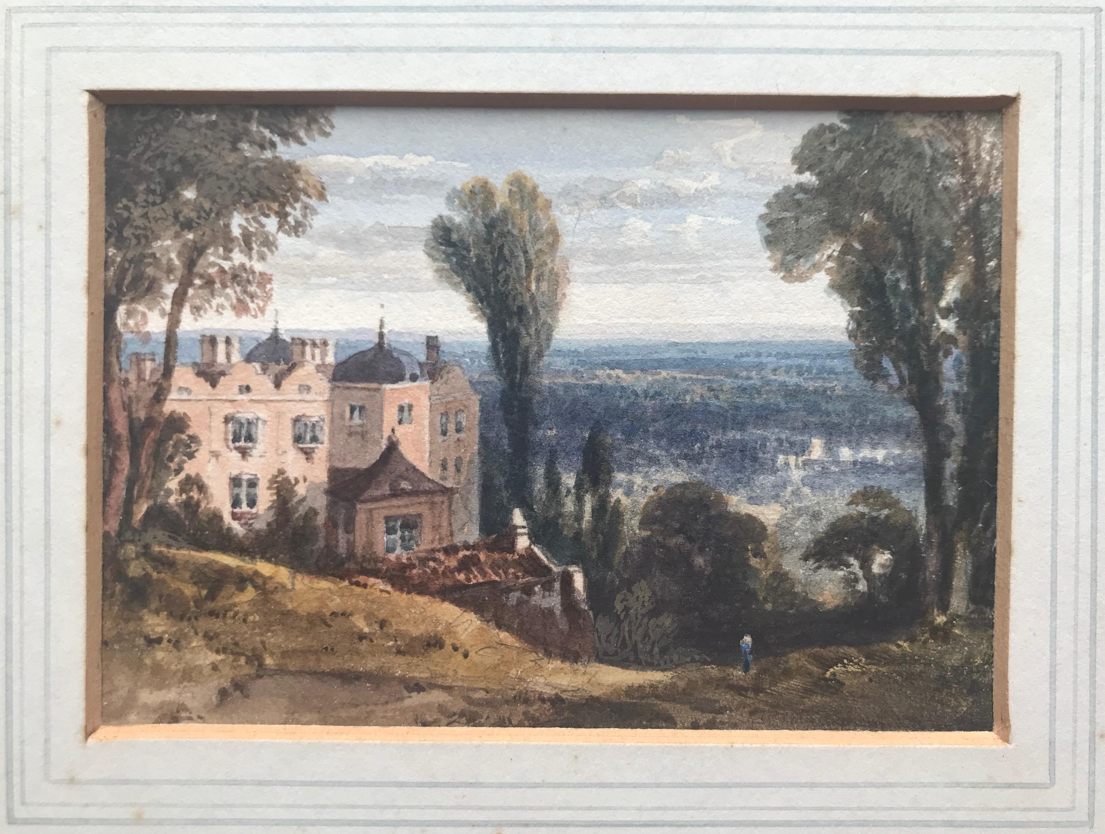 William Crouch, View of a country house, Yalding Downs, Kent