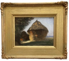 Sir George Clausen, Impressionist study of a hayrick