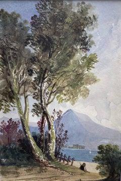 Circle of John Varley, 19th century view of a mountain lake