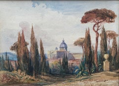 A Grand Tour view of  St Peter's Rome, Roman Campagna, Italy