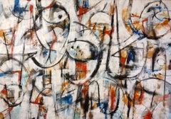 """Vibrato"" Contemporary Abstract Mixed Media on Canvas Italian Painting Music"