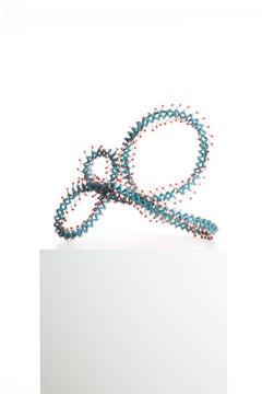 Driaan Claassen for Reticence, Abstract Organic Sculpture, Beaded Whisp 002