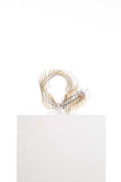 Driaan Claassen for Reticence, Abstract Geometric Sculpture, Beaded Whisp 007