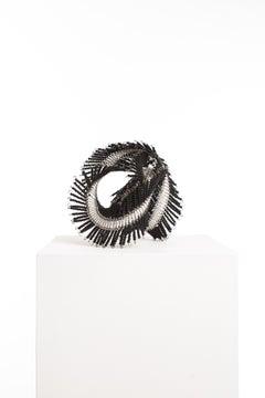 Driaan Claassen for Reticence, Abstract Geometric Sculpture, Beaded Whisp 008