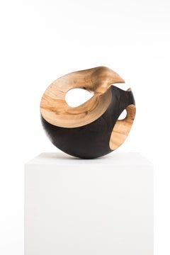 Driaan Claassen for Reticence, Abstract Geometric Sculpture, Wooden Sphere 003