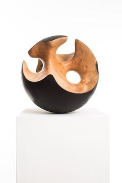 Driaan Claassen for Reticence, Abstract Geometric Sculpture, Wooden Sphere 004