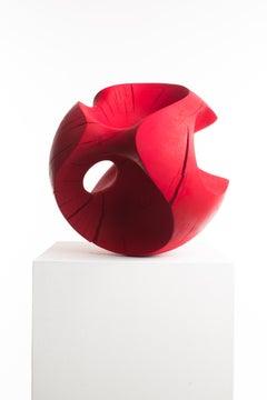 Driaan Claassen For Reticence, Abstract Geometric Sculpture, Wooden Sphere 007