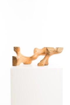 Driaan Claassen for Reticence, Abstract Geometric Sculpture, Wooden Cuboid 008