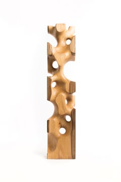 Driaan Claassen for Reticence, Abstract Geometric Sculpture, Wooden Cuboid 009