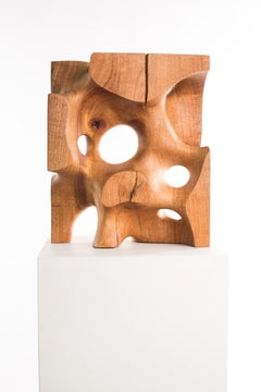 Driaan Claassen for Reticence, Abstract Geometric Sculpture, Wooden Cuboid 007