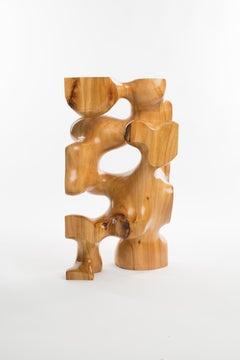 Driaan Claassen for Reticence, Abstract Geometric Sculpture, Wooden Cuboid 009