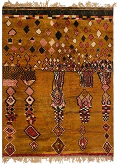 Moroccan Hand-Knotted  Wool Berber Rug