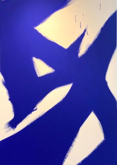 Abstract Yves klein Blue 4