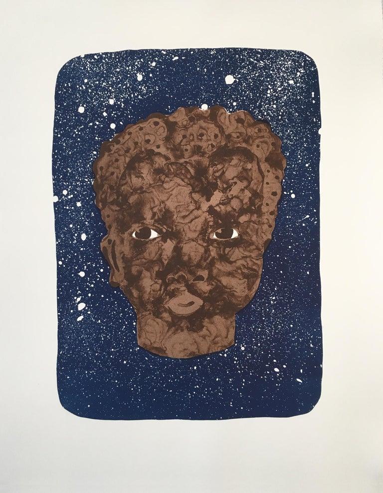 Jennifer Mack Watkins Figurative Print - Black Boy Hope II
