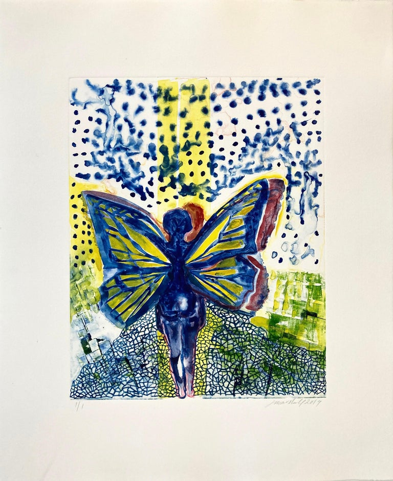 Jennifer Marshall Figurative Print - I, Butterfly