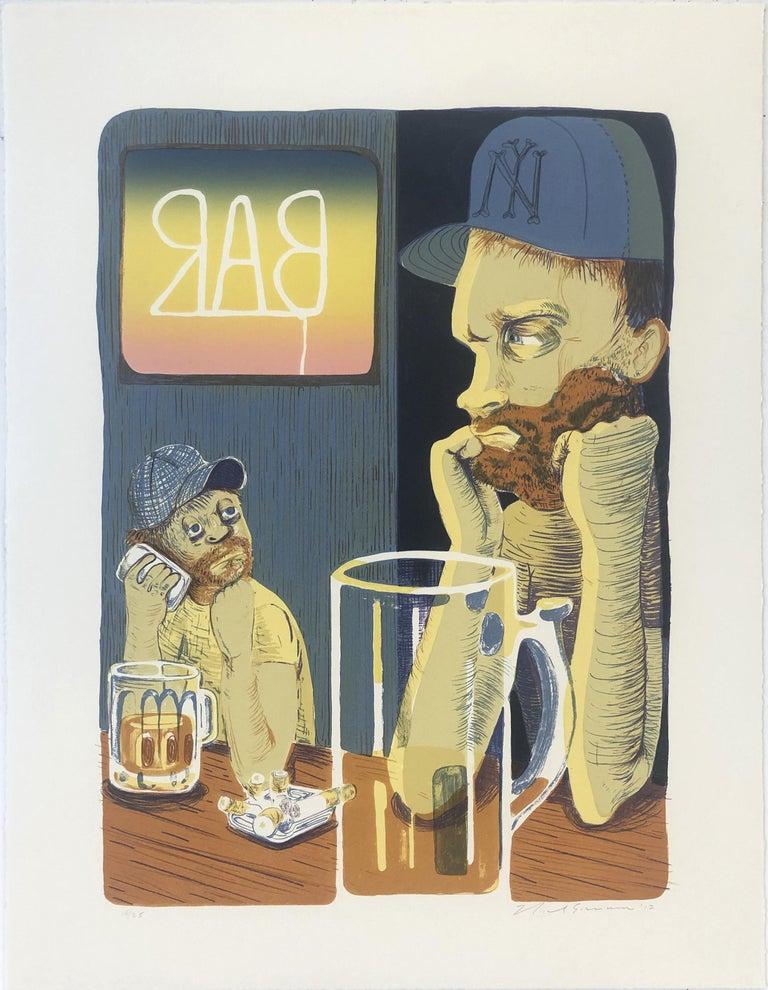 Nicole Eisenman Figurative Print - Bar