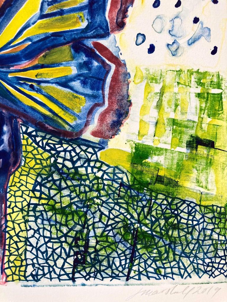 I, Butterfly - Beige Figurative Print by Jennifer Marshall
