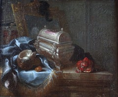 Baroque Still Life Meiffren Comte 17th Century Oil on Canvas