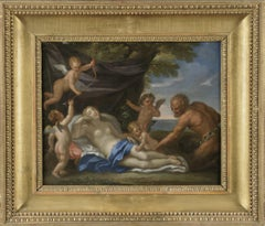 17th Century Baroque Attributed to Carlo Maratta Jupiter Transformed Oil Paint