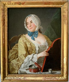 18th Century Portrait of a young lady, circle of Antoine Pesne, Berlin, Rococo