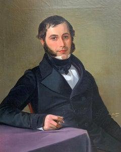 Gustav Adolf Barthel, Biedermeier, Portrait 1840, Braunschweig, Court Painter