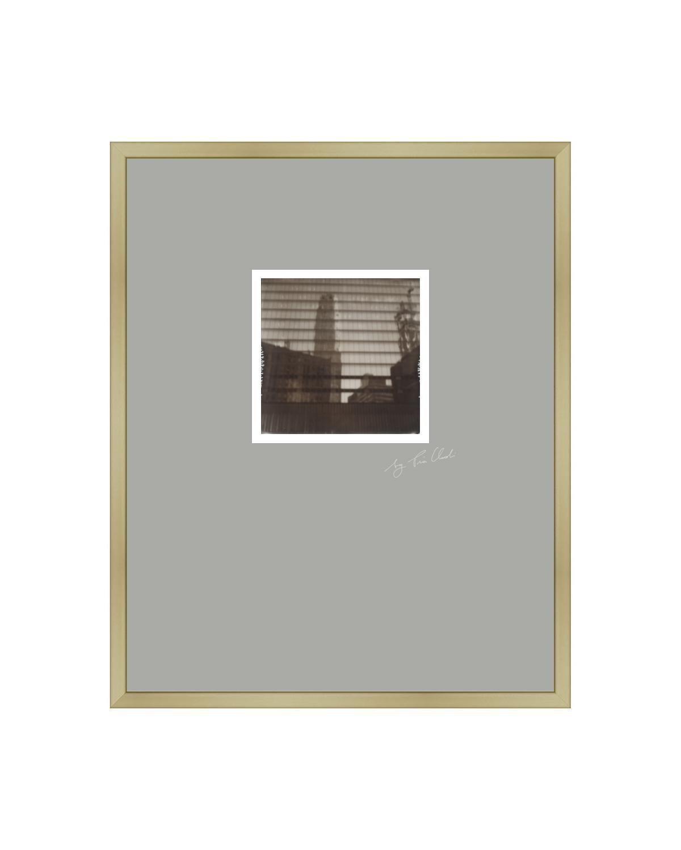 New York III - Contemporary Landscape Polaroid Original Photograph Framed