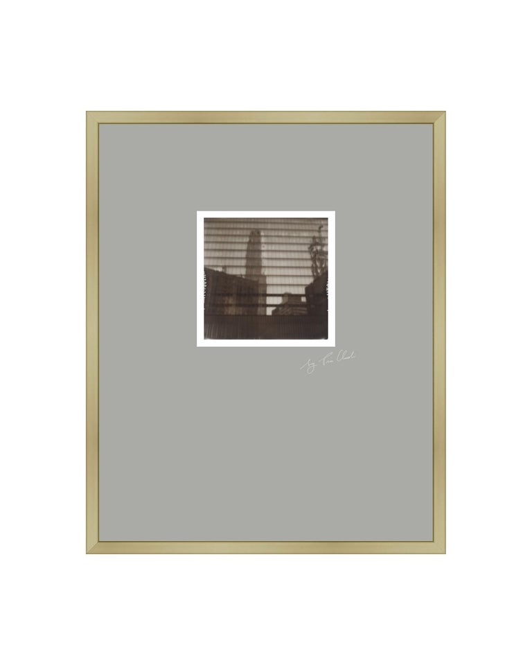 Pia Clodi Landscape Photograph - New York III - Contemporary Landscape Polaroid Original Photograph Framed