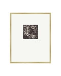 Past Bloom I - Contemporary Black & White Original Polaroid Photograph Framed