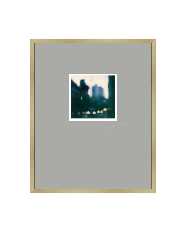 Paris Walks I - Framed Contemporary Landscape Polaroid Original Photograph