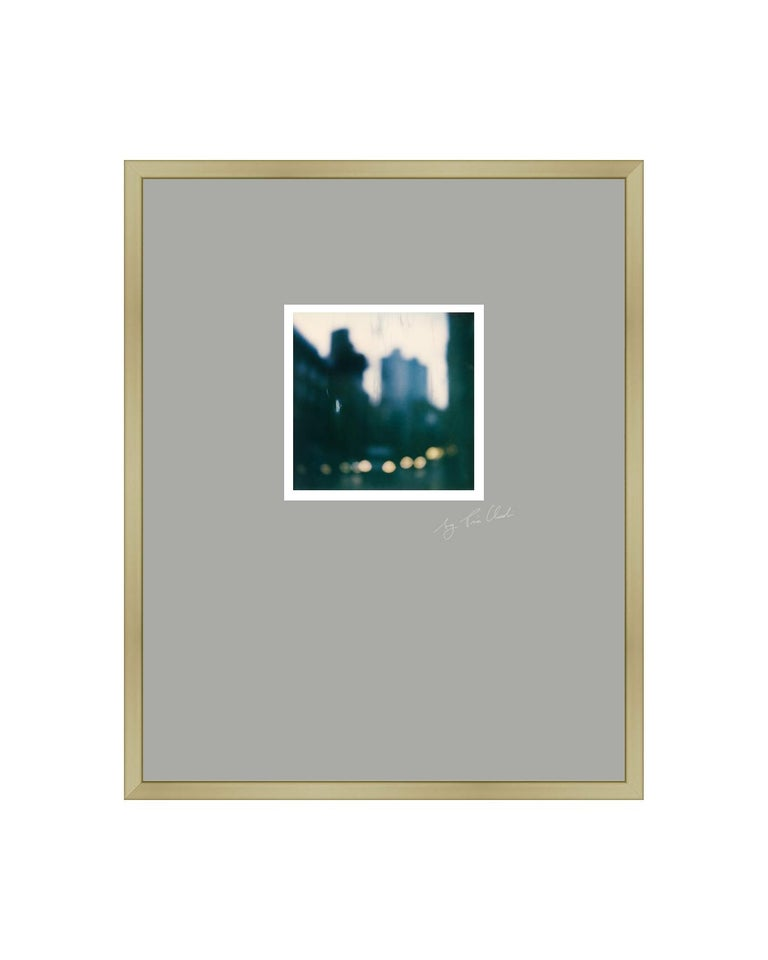 Pia Clodi Color Photograph - Paris Walks I - Framed Contemporary Landscape Polaroid Original Photograph