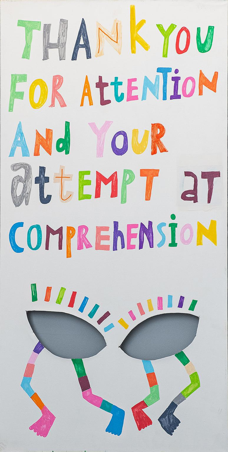 Thank You For Attention - Contemporary Acrylic Painting - Street Art