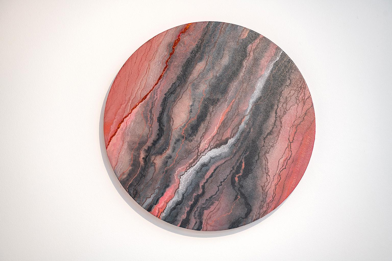 I Will Survive (Gloria Gaynor) - Contemporary Acrylic Painting - Round Canvas
