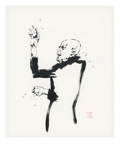 Nosferatu I by David Mack, Sumi-e brush and ink drawing
