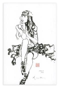Layna by David Mack, Sumi-e brush and ink life drawing