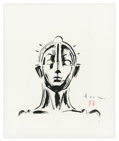Maria, Metropolis by David Mack, Sumi-e brush and ink silent fIlm drawing