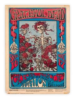Grateful Dead Skeleton and Roses San Francisco concert poster, 1966
