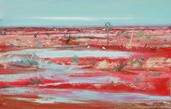 Ibis — Piers Bateman 1947—2015 (Landscape, Abstract) Oil on Canvas 2014