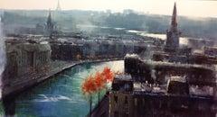 Change of Seasons, Paris — Herman Pekel b. 1956 (Impressionist, Landscape) 2019