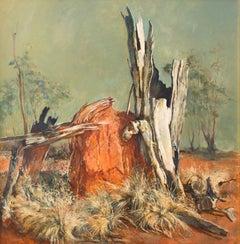 Anthill — John Beeman b. 1926 (Landscape, Realist) Oil on Gesso 2015