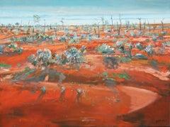 Desert Poston — Piers Bateman 1947—2015 (Landscape, Abstract) Oil on Canvas 2014