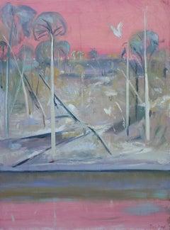 Shoalhaven Landscape & White Bird — Jamie Boyd b. 1948 (Landscape) 2015