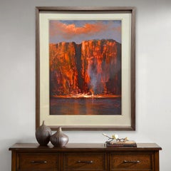 Light on Katherine Gorge — Mel Brigg b. 1950 (Landscape, Realist) Acrylic 2018