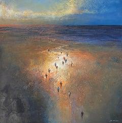 Through The Desert — Mel Brigg b. 1950 (Landscape, Realist) Acrylic 2019